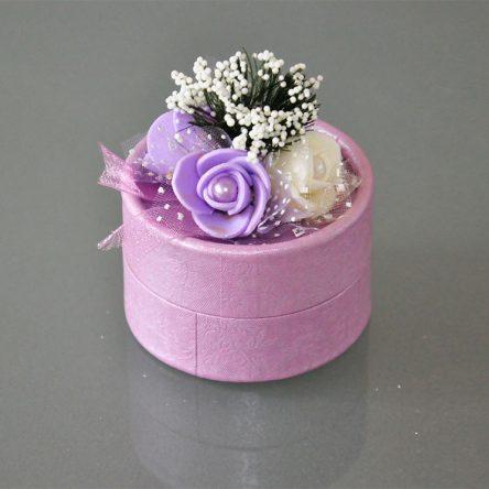Çiçekli Kutuda Nikah Şekeri